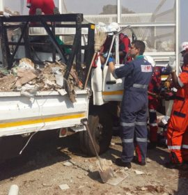 Two injured in truck collision in Vereeniging