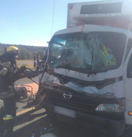 Truck rear-ends another leaving two critical outside of Bloemfontein