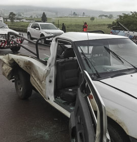 N3 Cato Ridge crash as truck is driven into rear of bakkie