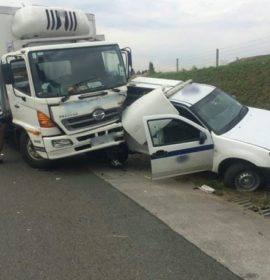 A collision on  N3 North Johannesburg South