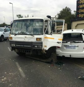 Multi-vehicle collision on Republic and Rabie, Fontainbleau.