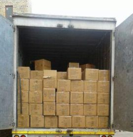 Suspects arrested in possession of truckload full of counterfeit goods
