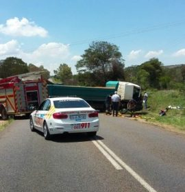 A man has died and another is in a critical condition after a truck collision