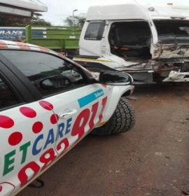 11 people have been injured after a truck and a taxi collision, Pinetown