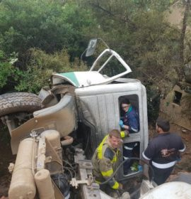 Truck ploughs through residential wall, Pretoria