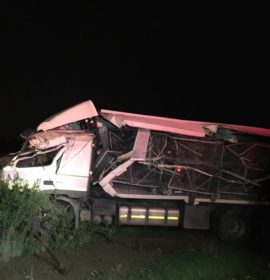 Fortunate escape from injury for drivers in truck collision, Bloemfontein