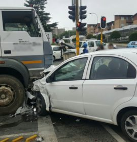 Collision on the corner of Stanley and Menton, Auckland Park.