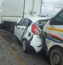 Pile-up after alleged brake failure on taxi