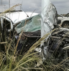 Miraculous escape from injury for driver in crash along the Delmas Road