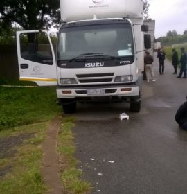 Suspects arrested shortly after truck hijacking and shootout