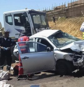 One dead in a cement truck and bakkie collision, Durban