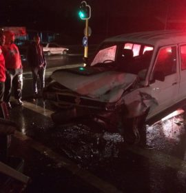 Taxi and truck collide leaving five injured on the Church Street Bridge, Pietermaritzburg