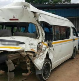 7 injured when a truck, taxi and car collide near the Coffee Farm
