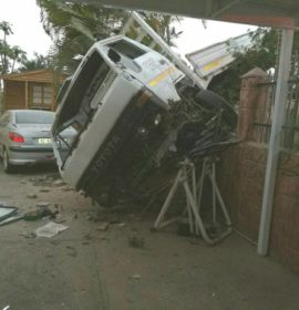 Truck Crashes Into Boundary Wall, Verulam