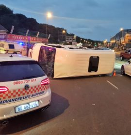 3 People were injured when a truck and taxi collided in Glen Anil Durban