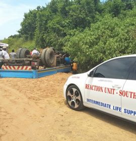 Father and Son Injured After Truck Overturns in Ndwedwe, KZN