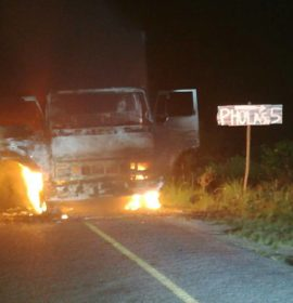 Truck engulfed in flames in Inanda