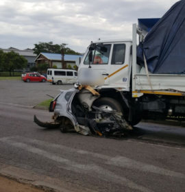 Man miraculously survives collision with truck in Vereeniging