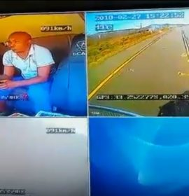 Dashboard camera captures bad driving by truck drivers and highlights the need for defensive driver training