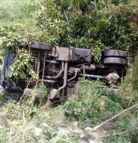Serious single truck accident leaves three people injured