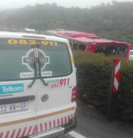 One dead after bus rolls on the N3