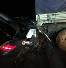 Driver escapes serious injuries in collision with a truck on the R50 in Bapsfonetin