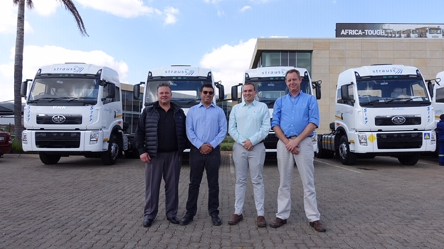 Strauss Logistics takes delivery of 44 FAW truck tractors