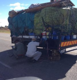 Reports received of a heavily overloaded trailer standing on the N1 North just outside Polokwane