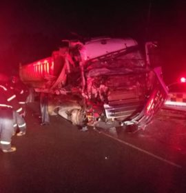 Man killed in a two-truck collision in Carletonville