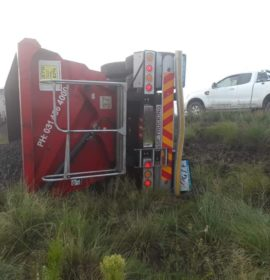 One injured in truck rollover on the N5 20 km towards Kestell