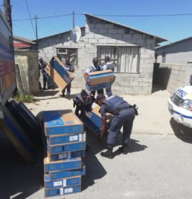 Four suspects arrested in possession of a hijacked truck's cargo in Khayelitsha