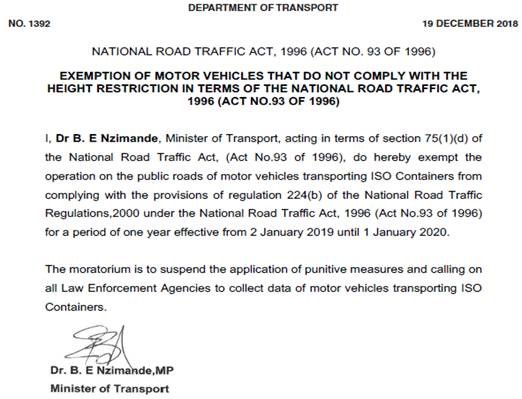 Update on Traffic and Transport Legislation - Truck and Freight