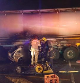 Cape Town: Three die in fiery crash with tanker.