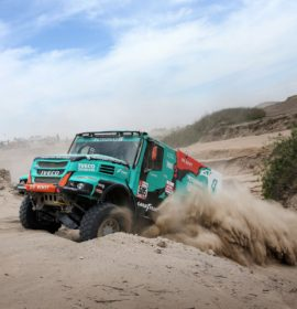 Dakar Rally podium finish for Team De Rooy with all four trucks in the top ten on Goodyear truck tyres