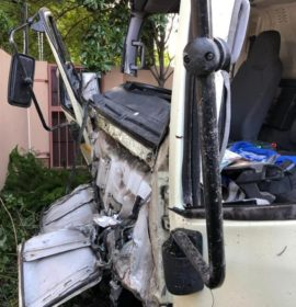 Two injured as truck crashes through wall of residence in Rivonia