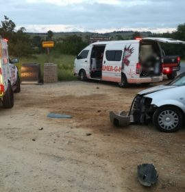Gauteng: One injured in car and truck crash near Lanseria