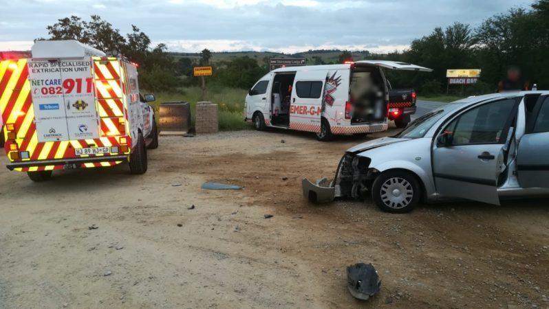 Gauteng: One injured in car and truck crash near Lanseria