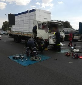 Two critical following N3 truck crash
