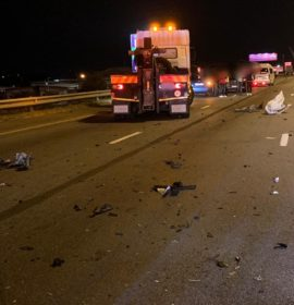 Gauteng: One injured when bakkie crashed into truck
