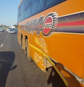 Three injured in a bus collision in Northriding