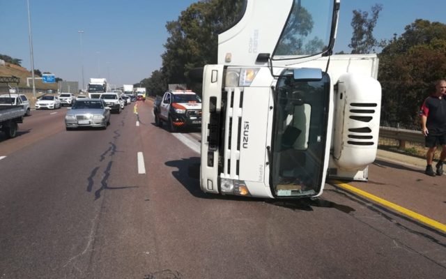 Truck overturned on the N1 North