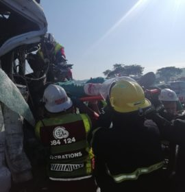 Two trucks collide leaving man seriously injured on the R33 in Crammond, KwaZulu Natal