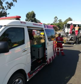 Truck rear-ends another leaving driver seriously injured in Pietermaritzburg