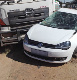 Truck and car collide leaving four injured on a gravel road in Vleifontein, Limpopo.