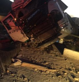 Truck driver killed after boulder pushed from bridge at De Doorns crashes through windscreen!