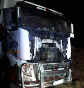 Truck driver lost control and collided with another truck on the N3