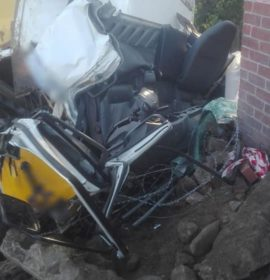 Truck lost control and crashed into a wall in Westmead Pinetown