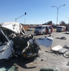 18 Injured as taxi collides with truck in Alberton