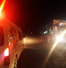 Two truck collision on the N3 South, in Van Reenen