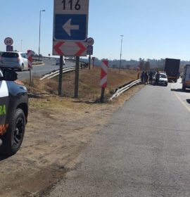 Truck and car collision on the N3
